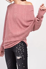 easel Textured Asymmetrical Tunic - Side cropped