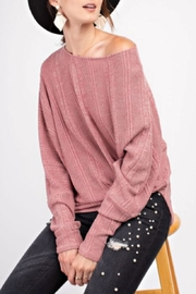 easel Textured Asymmetrical Tunic - Front full body