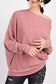 easel Textured Asymmetrical Tunic - Front cropped
