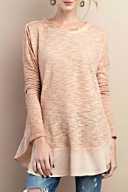 easel Textured Knit Sweater - Front cropped