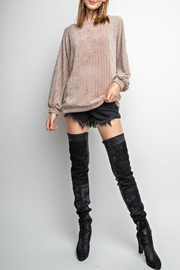 easel Cabled Chenille Pullover - Product Mini Image