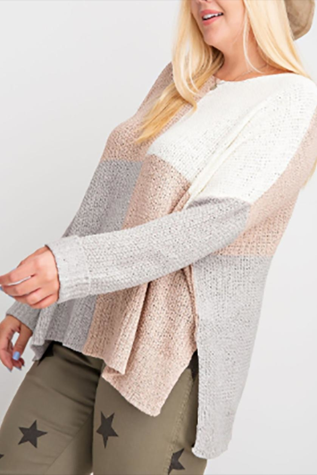easel The Sutton Sweater - Side Cropped Image