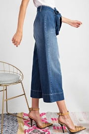 easel Tie Waist Jeans - Back cropped