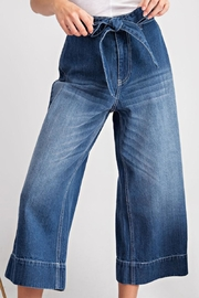 easel Tie Waist Jeans - Front cropped