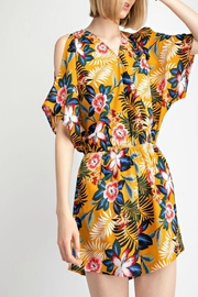 easel Tropical Print Romper - Product Mini Image