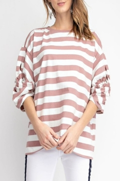 easel Twisted Sleeve Top - Product List Image