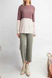 easel Ultra-Soft Color-Block Sweater - Product Mini Image
