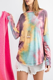 easel Ultra-Soft Tie-Dye Top - Product Mini Image