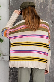 easel Unique Aztec Tribal Inspired Knit Sweater Pullover Jumper - Other