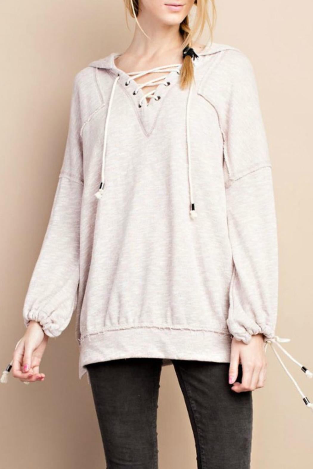 easel Lace Up Hoodie - Main Image