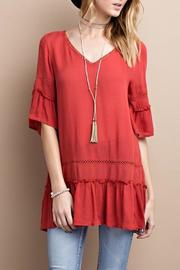 easel V Neck Tunic - Product Mini Image