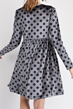 easel Velvet Dot Dress - Alternate List Image