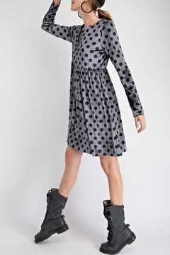 easel Velvet Dot Dress - Product List Image