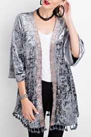 easel Velvet Embroidered Kimono - Product Mini Image
