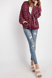 easel Velvet Pleated Bomber - Product Mini Image