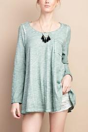 easel Washed Green Top - Product Mini Image