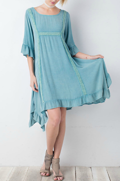 easel Washed Ruffle Dress - Product List Image