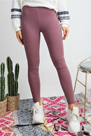 easel Washed Super-Stretch Jeggings - Product Mini Image