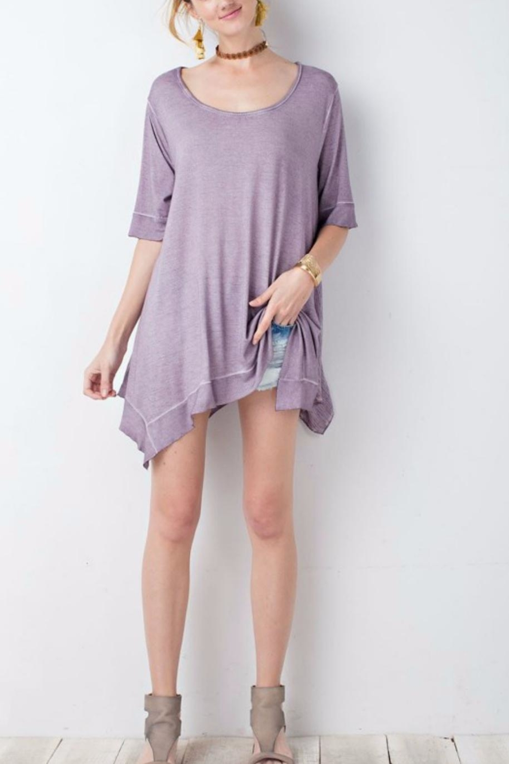 easel Washed Tunic Top - Main Image