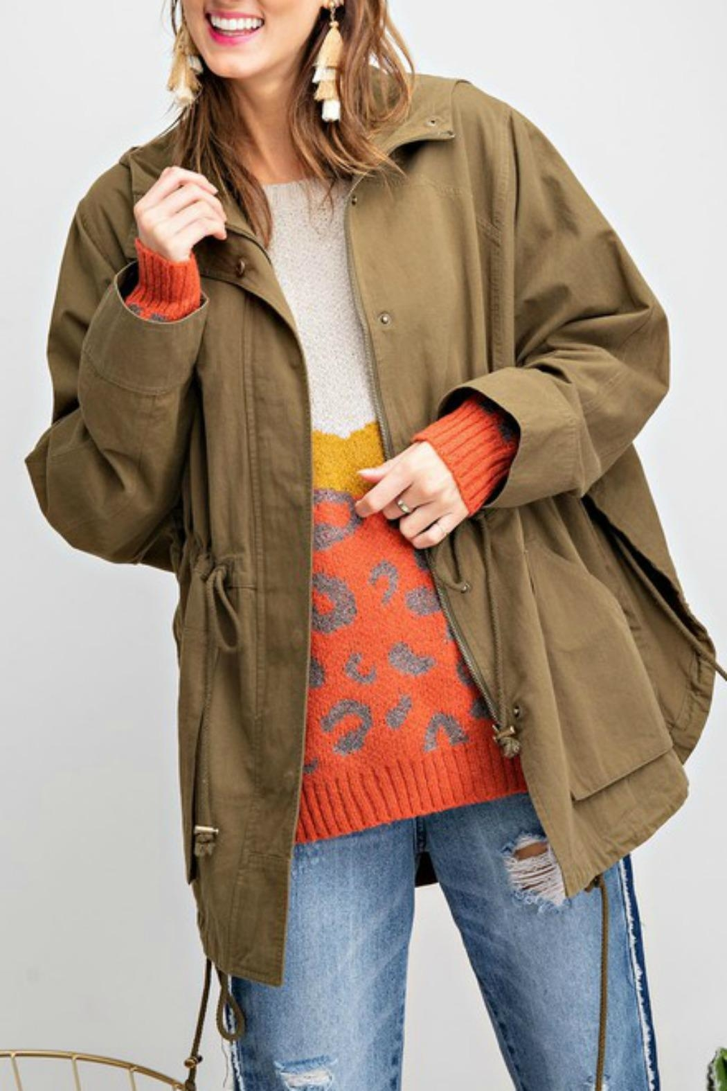 easel Washed Twill Poncho - Main Image