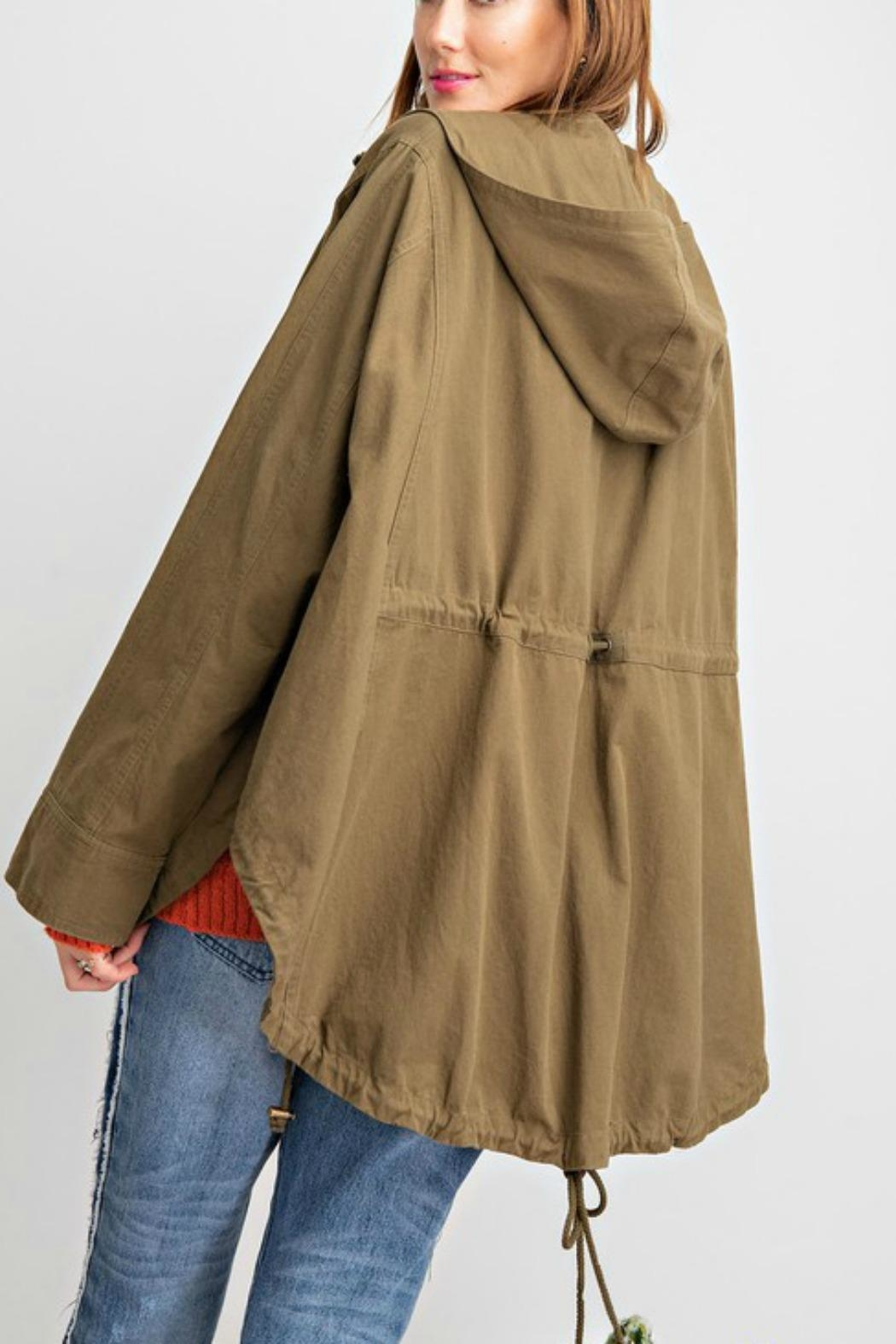 easel Washed Twill Poncho - Side Cropped Image