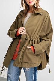 easel Washed Twill Poncho - Back cropped