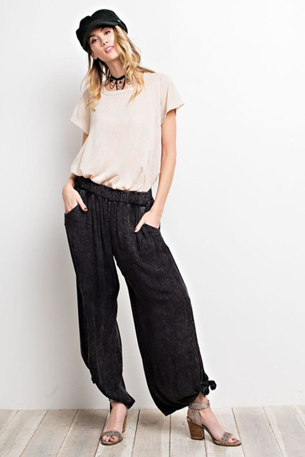 easel Washed Wide-Leg Pants - Main Image