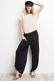easel Washed Wide-Leg Pants - Side cropped