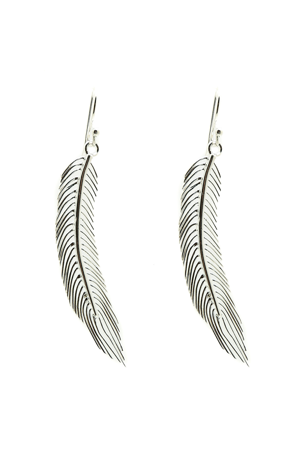 East O Java Sterling Feather Earring Front Cropped Image