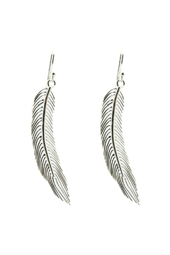 Shoptiques Product: Sterling Feather Earring