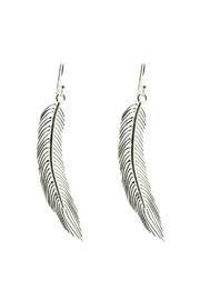 East O' Java Sterling Feather Earring - Front cropped