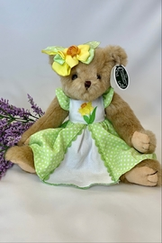 deannas Easter bear with green dress and yellow bow - Product Mini Image