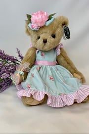 deannas Easter bear with light blue dress and pink accents - Product Mini Image