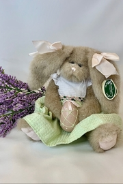 deannas Easter bunny with floppy ears and soft green dress - Product Mini Image