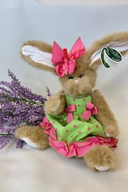 deannas Easter bunny with green dress and pink polkadots - Product Mini Image