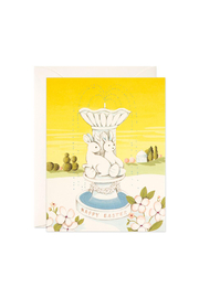 JooJoo Paper Easter Fountain Card - Front cropped