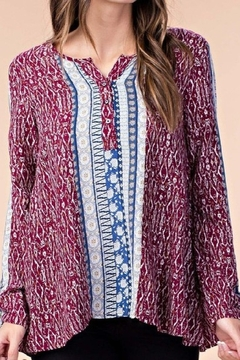 Kori Easy and comfortable wine print blouse - Product List Image