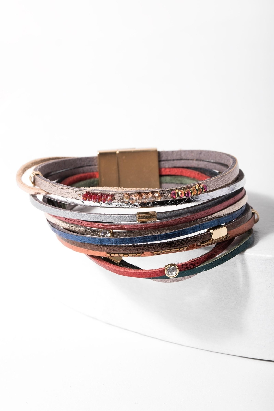 Saachi Easy Breezy Leather Bracelet - Main Image