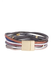 Saachi Easy Breezy Leather Bracelet - Back cropped