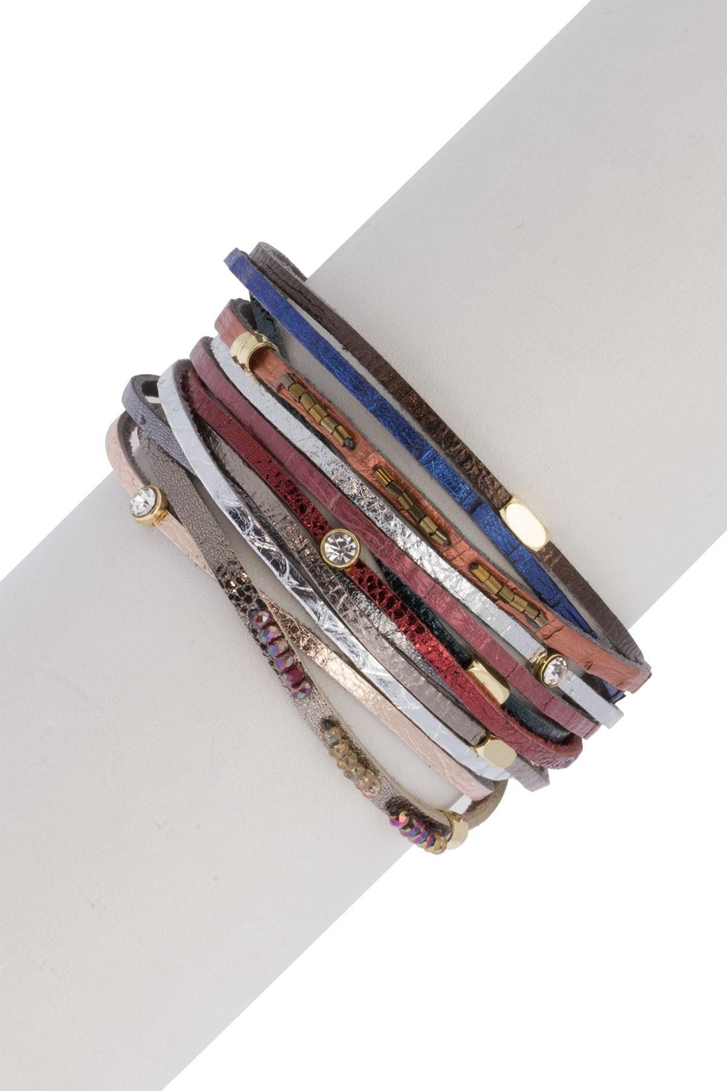 Saachi Easy Breezy Leather Bracelet - Front Full Image