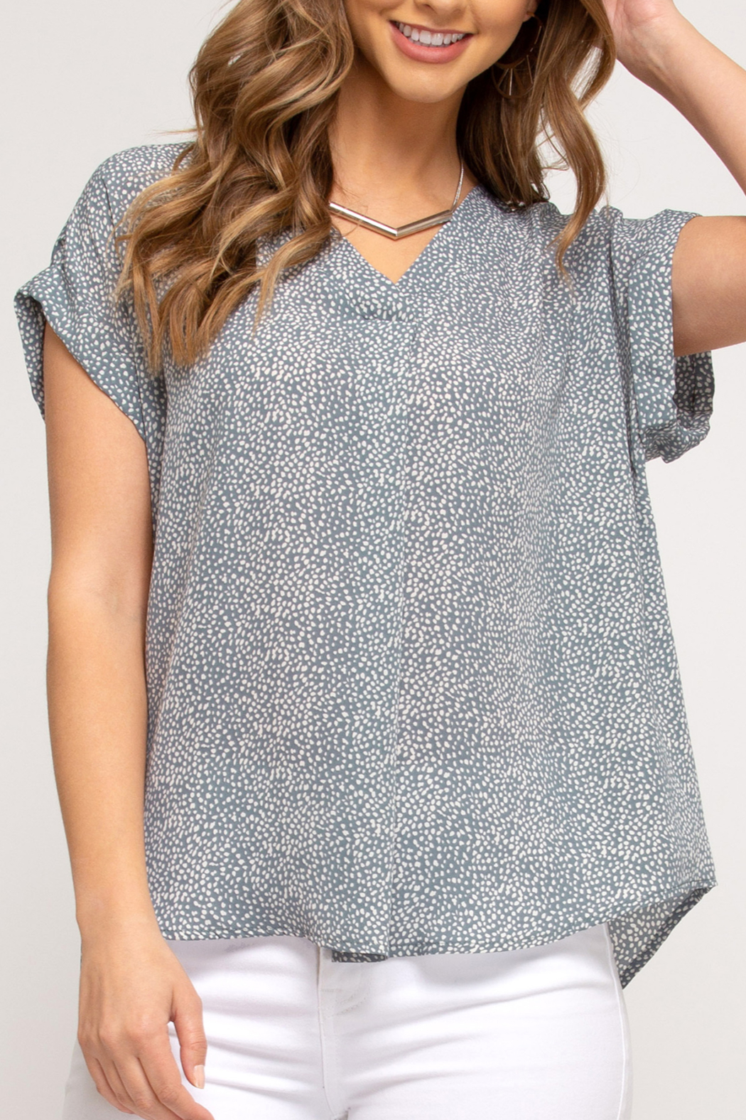 She and Sky Easy Breezy Summer top - Front Cropped Image