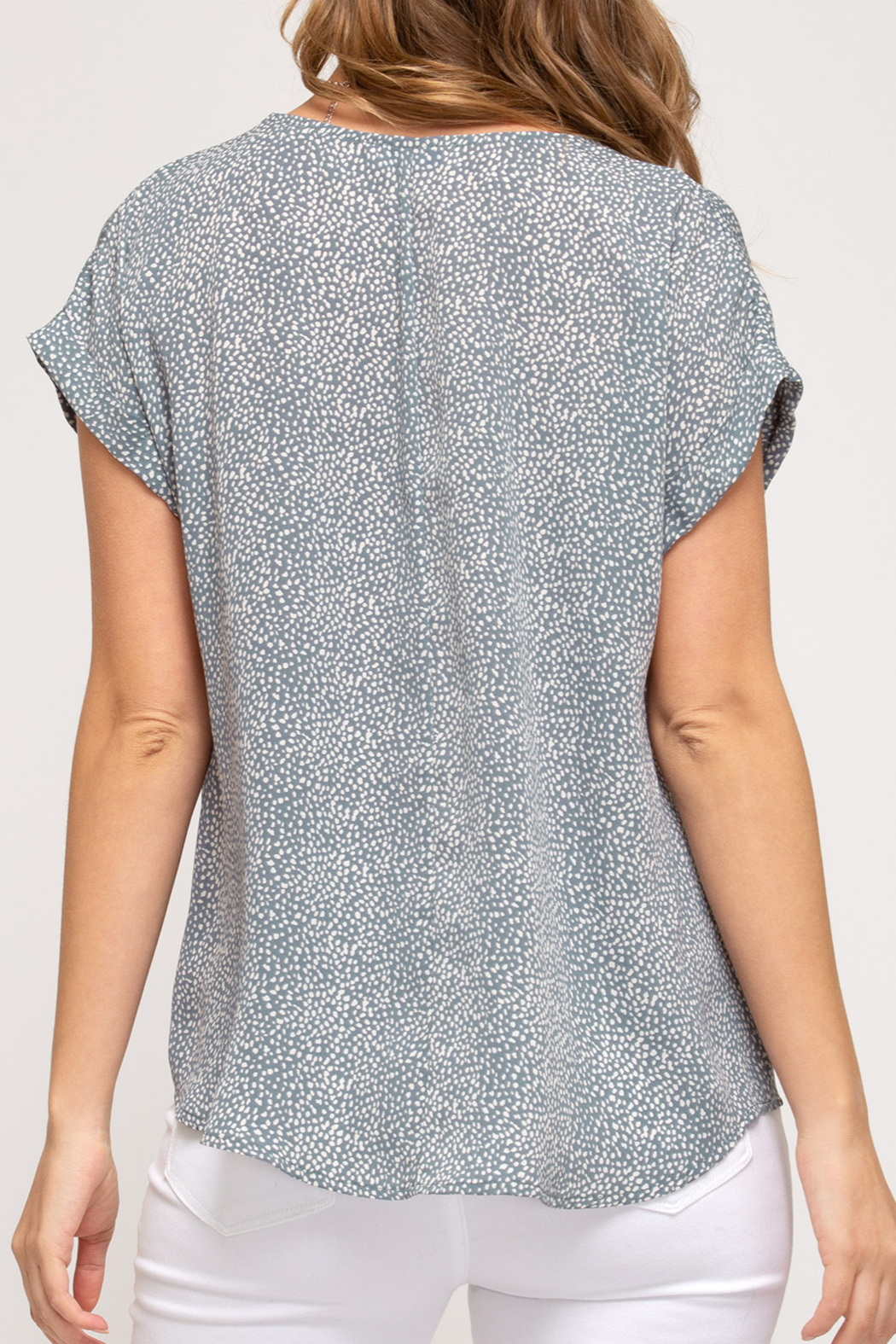 She and Sky Easy Breezy Summer top - Front Full Image
