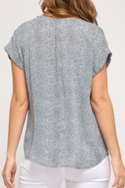 She and Sky Easy Breezy Summer top - Front full body