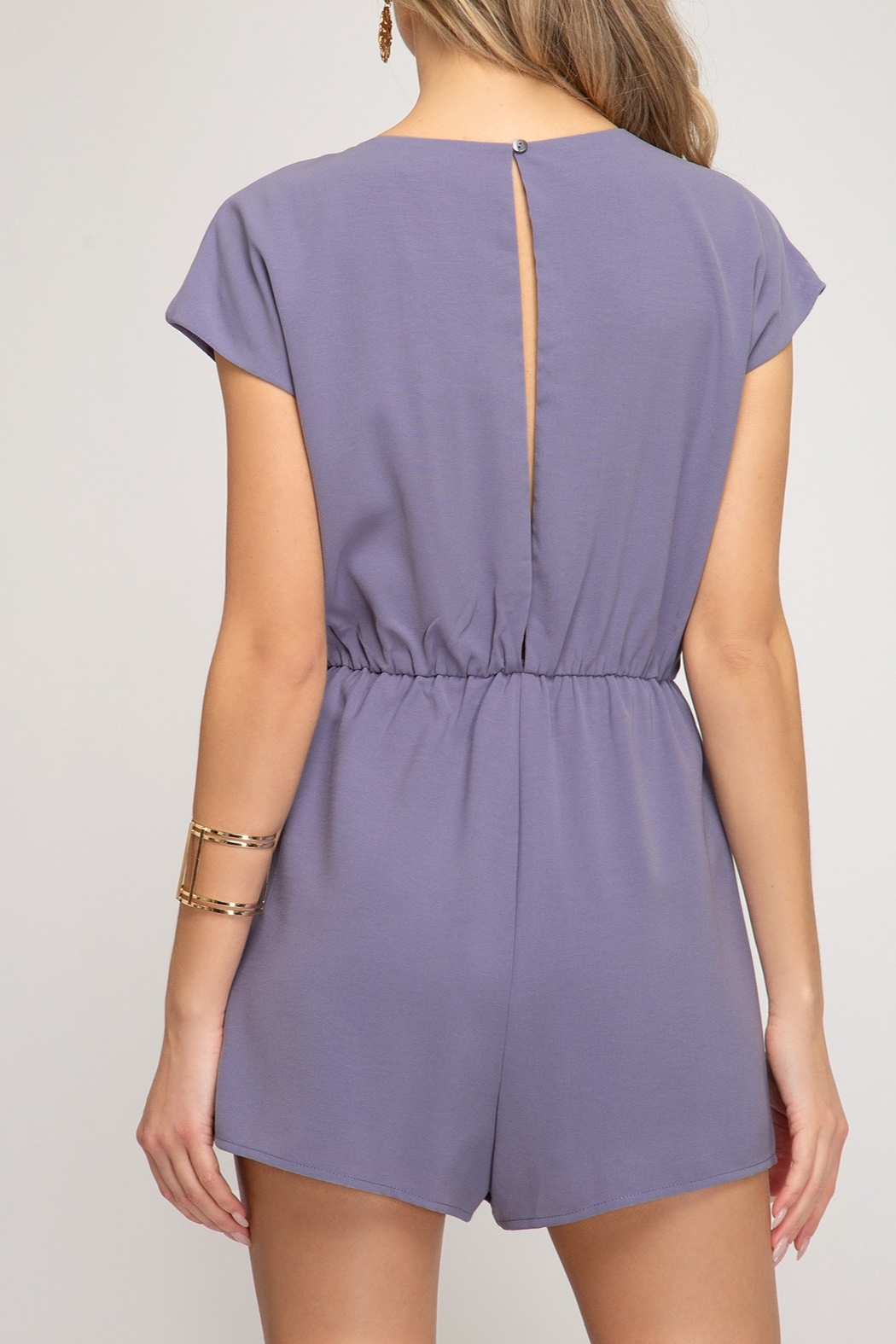 She and Sky Easy Days Romper - Front Full Image