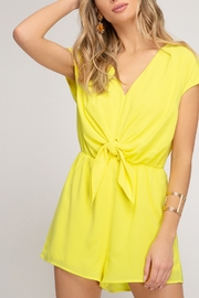She and Sky Easy Days Romper - Front cropped