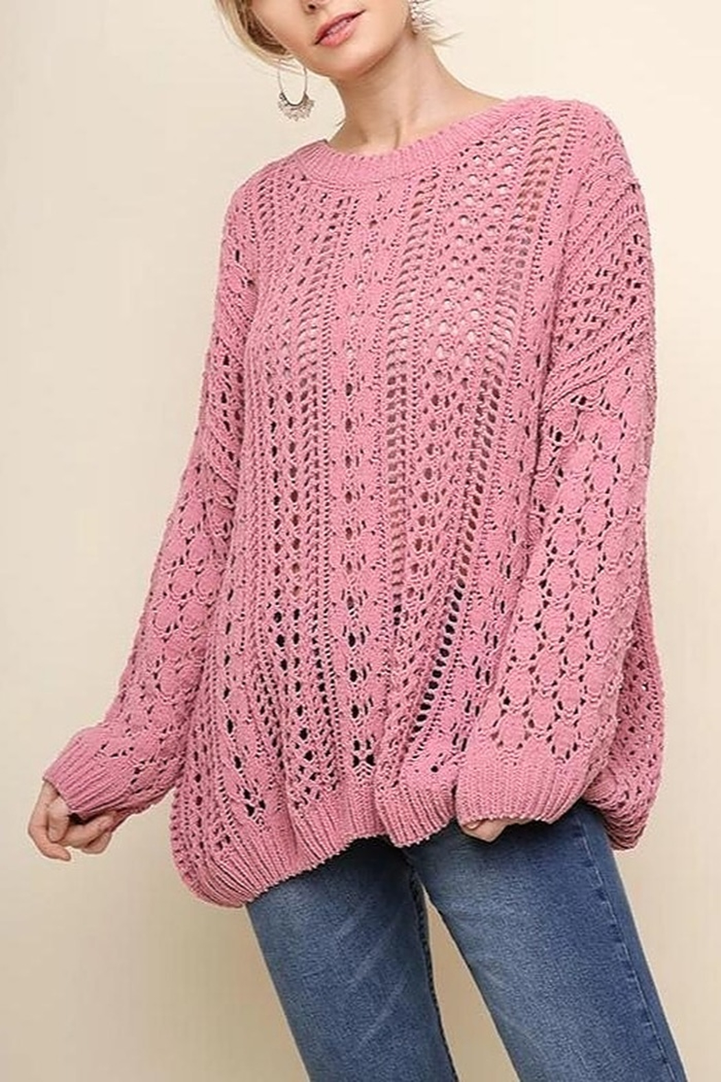 Umgee USA Easy Days Sweater - Front Cropped Image