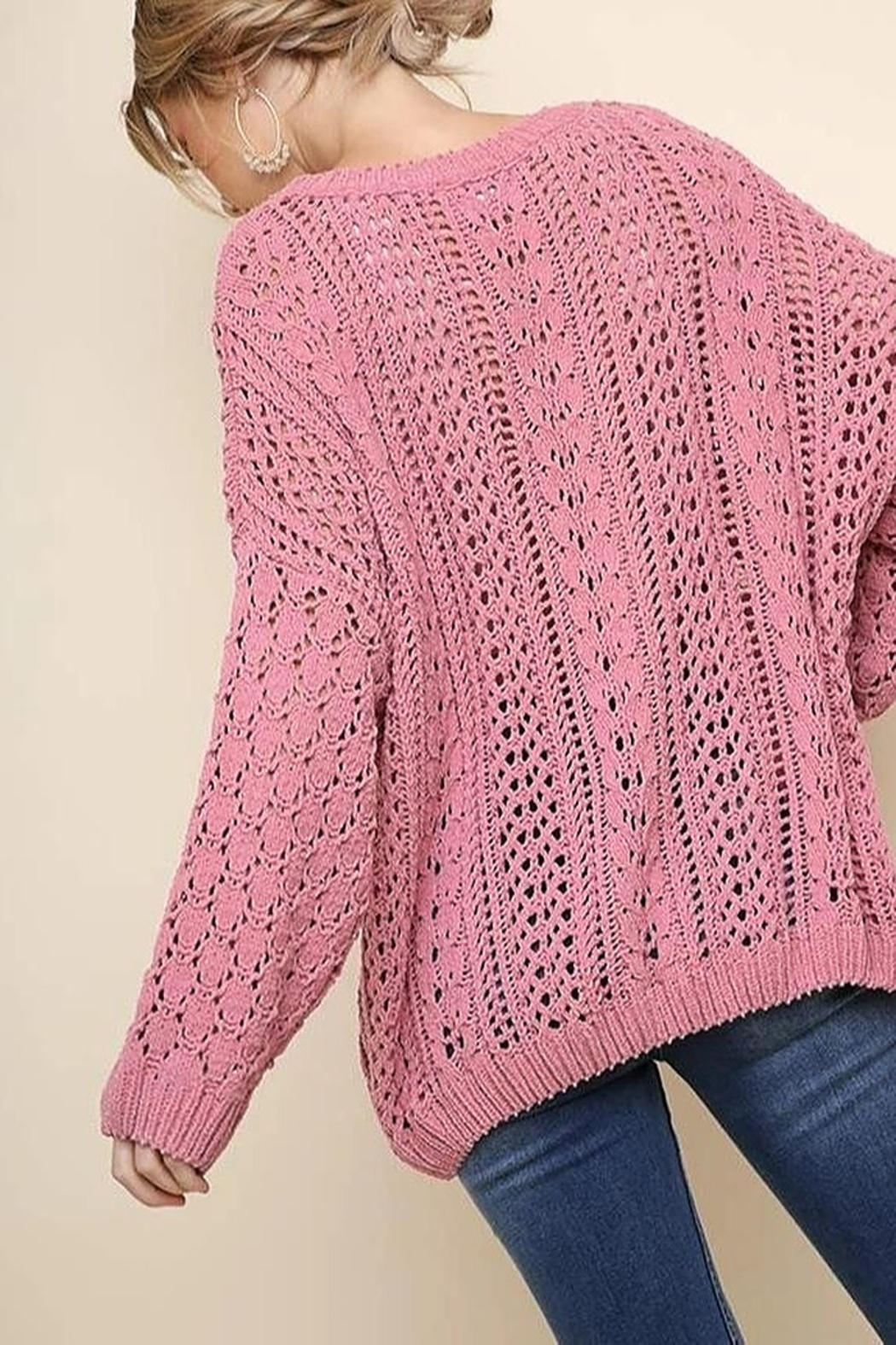 Umgee USA Easy Days Sweater - Front Full Image