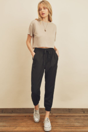Dress Forum  Easy Drawstring Joggers - Front cropped