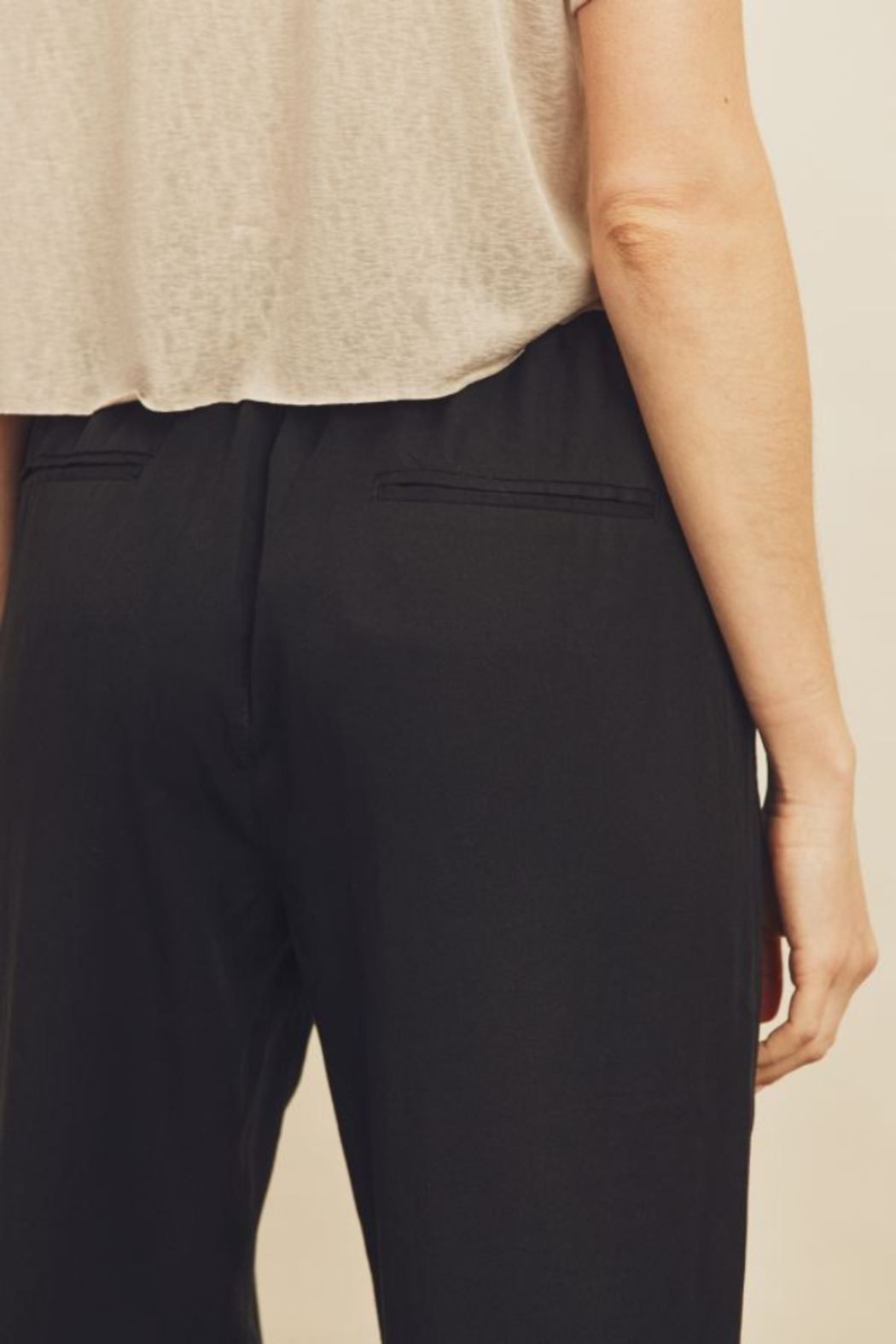 Dress Forum  Easy Drawstring Joggers - Back Cropped Image