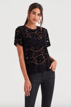 7 For all Mankind Easy Lace Top - Product List Image